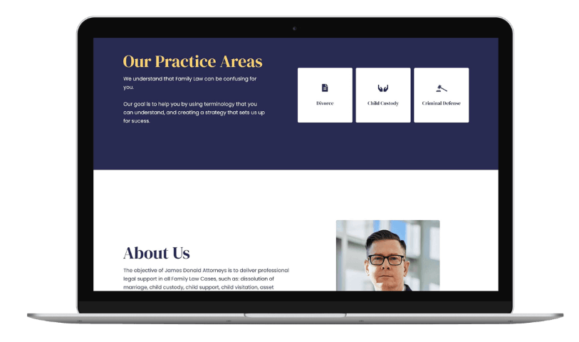 Flowy Studio - Web Design and SEO project for James Donald