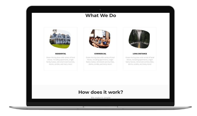 Flowy Studio - Web Design and SEO project for Moving Wings