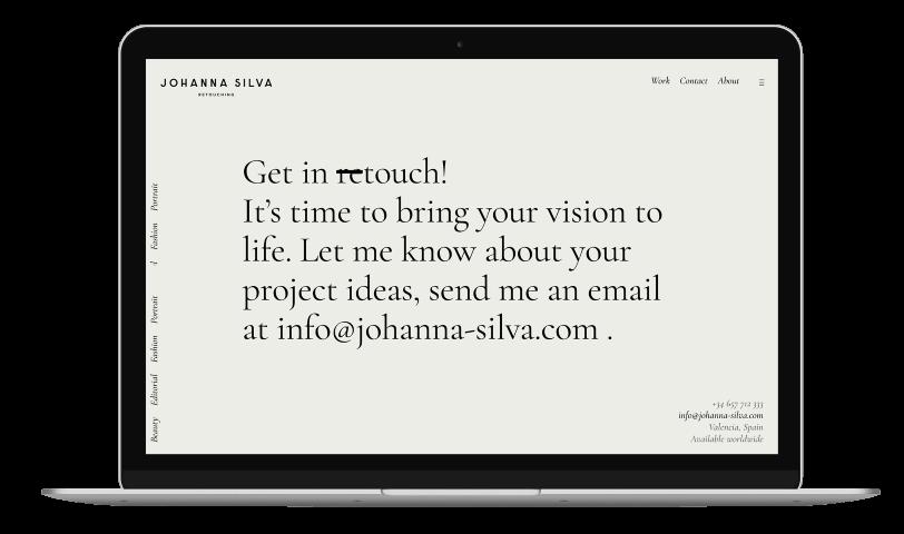 Flowy Studio - Web Design and SEO project for Johanna Silva