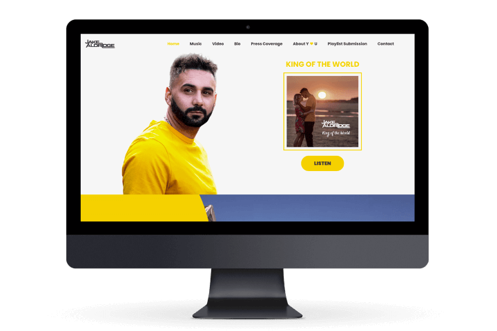 Preview image for web design and SEO project for Jake Aldridge