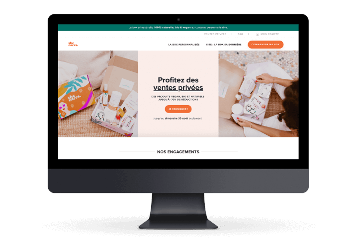 Preview image for web design and SEO project for She Cares Box