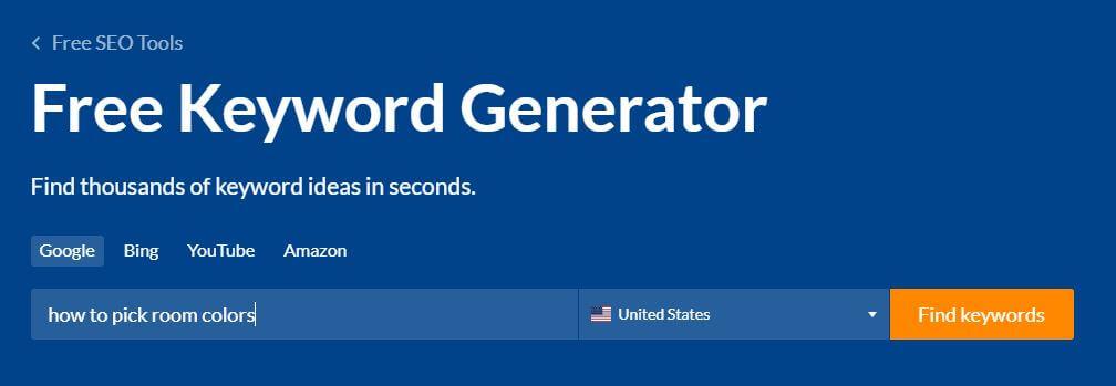 Showing ahrefs keyword generator