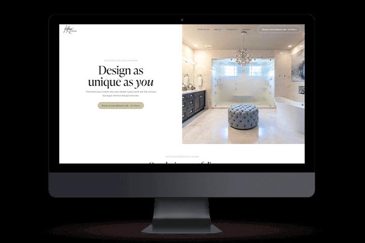 Web design Mockup for Kathryn Interiors