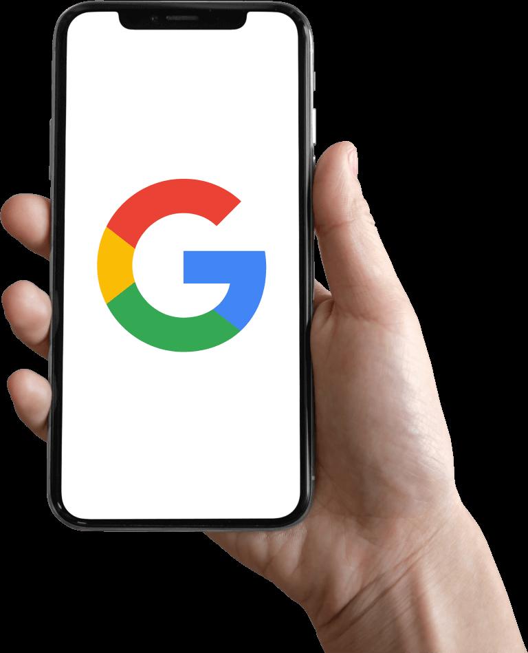 iPhone Mockup with Google's Logo